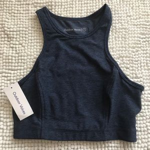 Outdoor Voices navy Athena crop, new, small